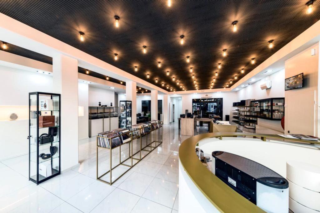 MTF realisaties Audiofrenzy metaalwerk op maat shop platenwinkel