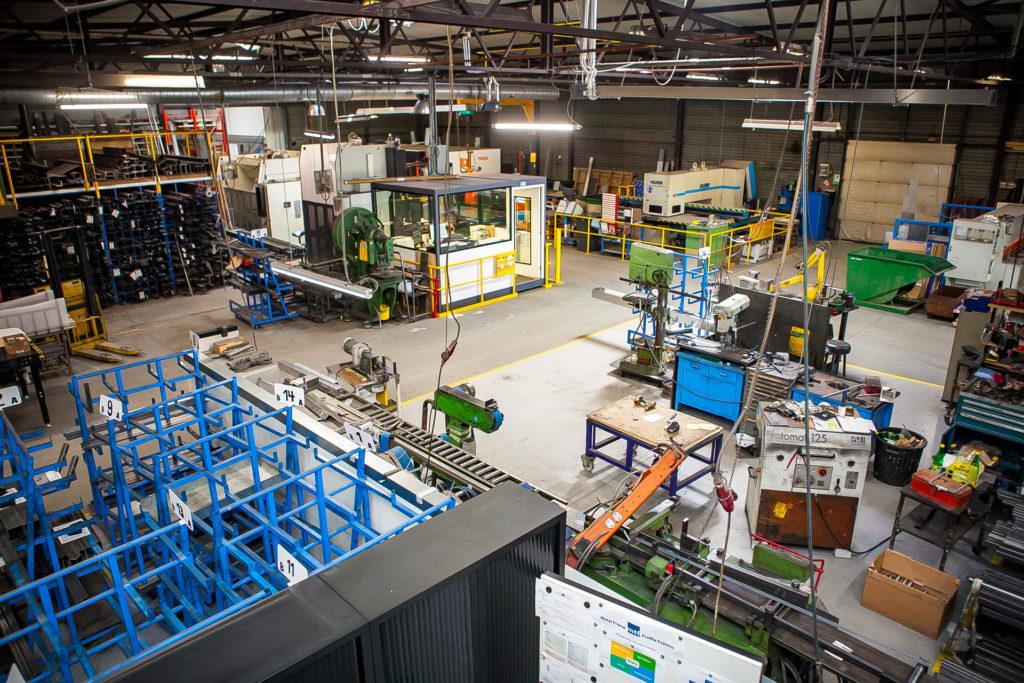 MTF magazijn atelier Hasselt machinepark staal RVS aluminium