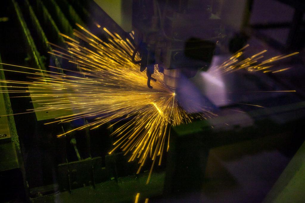 MTF team laswerken laser in actie metaal regio Hasselt